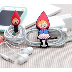 Cute redhood earphone winder shinzi katoh
