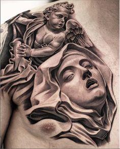 "1,767 Likes, 3 Comments - Em Morris (@em.morrisartistic33) on Instagram: ""Amazing artist Jun Cha @juncha awesome angel renaissance Bernini Virgin Mary sculpture chest…"""