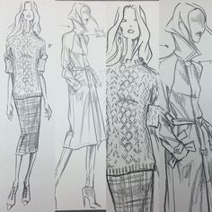 Design Sketches for Ralph Lauren Blue Label Fall 2013