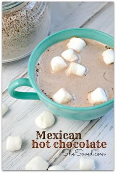 Mexican Hot Chocolate from She Saved.  Makes a great hostess gift for Christmas!