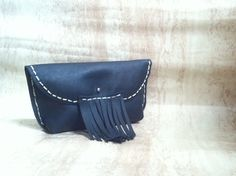 Genuine leather clutch by DEERBAGS on Etsy Handmade Bags, Leather Clutch, Trending Outfits, Unique Jewelry, Etsy, Vintage, Fashion, Moda, Handmade Handbags