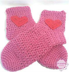 Medias de lana a crochet