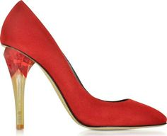 Pia Ruby Red Suede Wlucite High Heel Pump. Made in Italy. Oscar de la Renta Pia Ruby Red Suede w/Lucite High Heel Pump#OscarDeLaRenta #Red #CourtsandPumps #Forzieri #Women #fashion #obsessory #fashion #lifestyle #style #myobsession #trend #lifestyle #highheels #awesomeshoes #women #fashionforwomen #trednsetter #luxury #party #partyshoes
