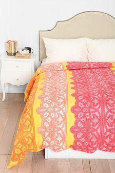 Plum & Bow Lace Stripe Duvet Cover #urbanoutfitters