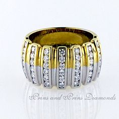 Only the finest Two-tone Diamond Rings are chosen with care at Prins & Prins for our valued customers. Diamond Rings, Gemstone Rings, Dress Rings, Sparkle, Accessories, Jewelry, Jewlery, Jewerly, Schmuck