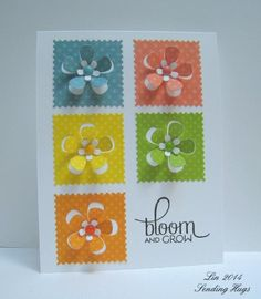 Bloom ~ SimonSaysStamp Simon PPSSSQ22014  Stamps: Verve Bloom  Grow  Paper: BoBunny double dots  Ink: VersaFine Onyx Black  Accessories: Simon Says Stamp Partial Cut Flowers dies, Doodlebug Sprinkles Read more: http://www.splitcoaststampers.com/gallery/photo/2532282#ixzz36HF73Fva