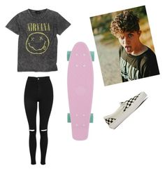 """Jack Avery's Girlfriend"" by marigalindoguti ❤ liked on Polyvore featuring Vans and Topshop"