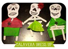 Dia de los Muertos Calavera popsicle craft