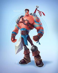 Warrior on Behance