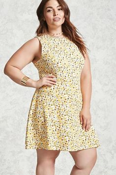 6f7997c46f0 Forever 21 FOREVER 21+ Plus Size Floral Print Dress Casual Dresses For  Women