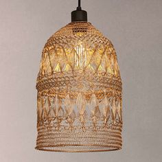 BuyJohn Lewis Papri Easy-to-Fit Steel Ceiling Shade, Copper Online at johnlewis.com