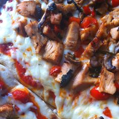 Naan bread pizza! Quick easy and delicious. Grill or roast veggies of ...