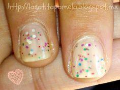 So cute. Looks like funfetti for your fingertips!