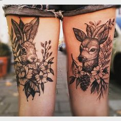On the back of my thighs. Left healed, right fresh. Done by Roald vd Broek at Salon Serpent in Amsterdam.