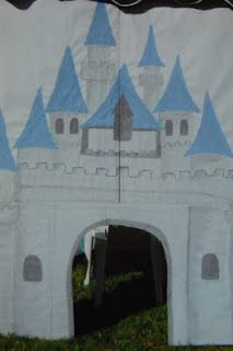 Fabulous party idea! Flat backdrop painted with a castle exterior or interior scene, or an underwater or forest scene? So many options!