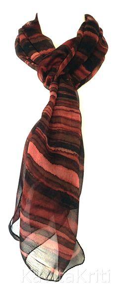 Handmade silk scarf Fall fashion scarf Fall color scarf Brown Stripes by KavitaKriti  https://www.etsy.com/listing/204456941/fall-fashion-scarf-fall-color-scarf?ref=related-0