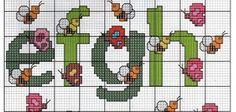alfabeto ponto cruz borboletas