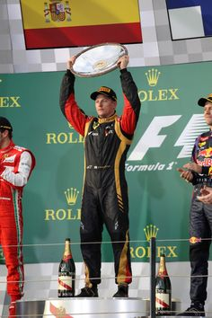 17.03.2013 - GP Australia, Kimi Raikkonen Lotus F1 Team E21 race winner.