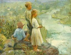 At The River's Edge -Adam Emory Albright (1862 – 1957)