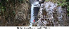 Panoramic of Chilling waterfall