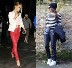 Το δερμάτινο παντελόνι ταιριάζει τέλεια με κοντά μπλουζάκια και ένα ζευγάρι sneakers ή με γόβες, ανάλογα με την περίσταση. #leather_trousers #street_style