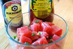Shoyu and spicy tuna poke