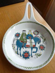 SWEDISH CERAMIC PLATE  Large  Art  Birds  Hand made  Scandinavian  Rustic  Platter  Pottery vintage  Clay  Glaze  Terracotta