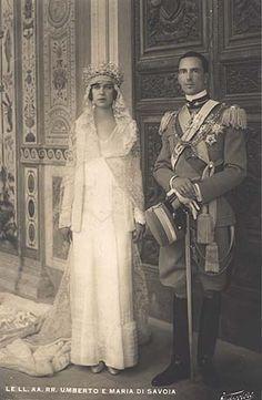 Queen Marie Jose and King Umberto, pais da Dona Maria Pia, Rainha de Portugal!