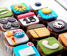 I know these are cupcakes but they are the apps on the iPhone, iPod && iPad.
