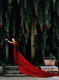 Gorgeous red gown!