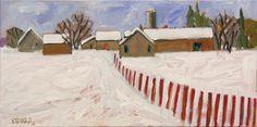 Claude A. Simard, R.C.A. (1943-2014) Snow-Covered Farm, 2013