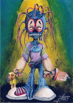 Dom Medusa - Criação: Darci Campioti visite: www.institutodeartesdarcicampioti.blogspot.com.br