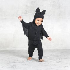 🎃Halloween Bat Suit for Baby & Toddler | Designer Bat Costume by BlamoToys via Etsy #halloween #halloweencostume
