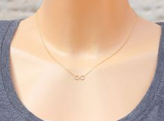 Tiny Infinity Necklace - Best friend, 14k Gold filled Infinity necklace, Simple necklace, sisters necklace, figure eight, infinity jewelry
