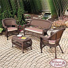 a living room feel - patio furniture set.