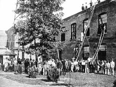 Fire drill at Kodak Park in 1899.