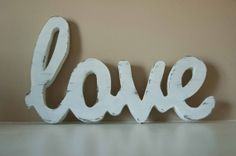 Love Wood Sign Custom Made Home Decor by theletteredlane on Etsy, $37.00