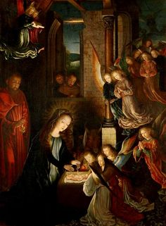 Famous paintings of the birth of Christ, including date, artist, and back story of the art.
