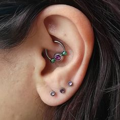 Upgraded this lovely #daithpiercing #daith to a nice #mermaid themed piece. Thanks @marbsno for letting me experiment with #customjewellery #custom #jewellery. #piercings #piercedears #bodypiercing #ears #earspierced #piercings #piercingsofinstagram #piercersofinstagram #purple #green #lobes #bodyjewellery #titanium #titaniumjewellery #horseshoe #circularbarbell #labretstud