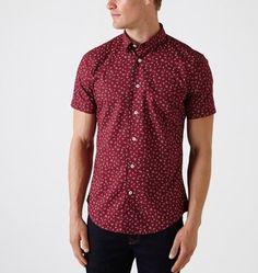 MARCS   Shirts - GRANVILLE SHORT SLEEVE PRINTED COTTON SHIRT