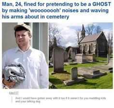 Fired For Pretending To Be A Ghost