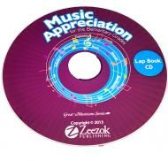 Click to buy the Music Appreciation for the Elementary Grades Lapbook on CD for just $29.99  Create a lapbook for each of the seven composers learned about in the book! #ZeezokPublishing #homeschool https://store.zeezok.com/music-appreciation/lapbook