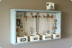 Como hacer organizador joyas