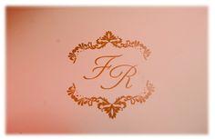 Papelaria personalizada: Monograma dos noivos: Flaviane e Rodrigo. (2013).