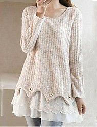 Women's+Casual+Micro-elastic+Medium+Long+Sleeve+P...+–+USD+$+30.80