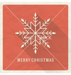 Christmas retro typography and snowflake ornament vector by ProVectors on VectorStock®