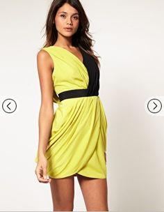 Color Block Drap Dress from Asos.com. Originally $59.61, now on sale for $35.76