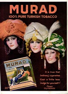 Murad The Turkish Cigarette (Popular Science Vintage Advertising Posters, Vintage Advertisements, Vintage Posters, Vintage Ephemera, Vintage Ads, 1940s Pinup, Vintage Cigarette Ads, Spanish Gypsy, Turkish Soldiers