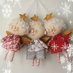 New 2017 handmade. Buy Angels Christmas asterisk Textile Dolls Toys on the Christmas tree. Handmade Angels, Handmade Toys, Tiny Dolls, Soft Dolls, Christmas Angels, Christmas Crafts, Christmas Ornaments, Angel Crafts, Fabric Toys