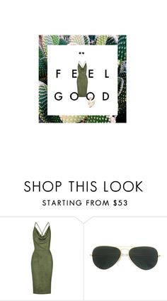 """""""Feel Good"""" by koby ❤ liked on Polyvore featuring Rare London, Paul Andrew and Ray-Ban"""